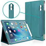 iPad Pro 9.7 Case, [Corner Protection] CaseCrown Bold Standby Pro (Arctic / Teal) Case w/ Apple Pencil Holder - Black, Sleep / Wake, Hand Grip, & Multi-Angle Viewing Stand