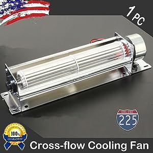 "Hi-Tech 5"" Cross Flow Car Stereo Amplifier Component Cooling Fan Quiet Computer"