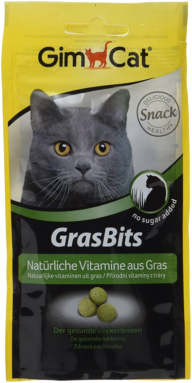GimCat GrasBits – Cat Treats with Vitamins, Minerals, Amino Acids and Trace Elements – 1 x 140g pouch H. von Gimborn GmbH 417295