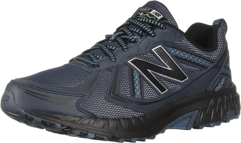 New Balance Men s 410v5 Cushioning Trail Running Shoe, Petrol Cadet Black, 10 4E US