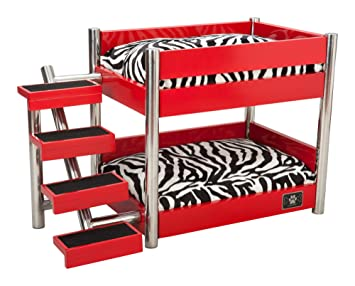 Amazon Com Lazybonezz The Metropolitan Pet Bunk Bed Pet Supplies