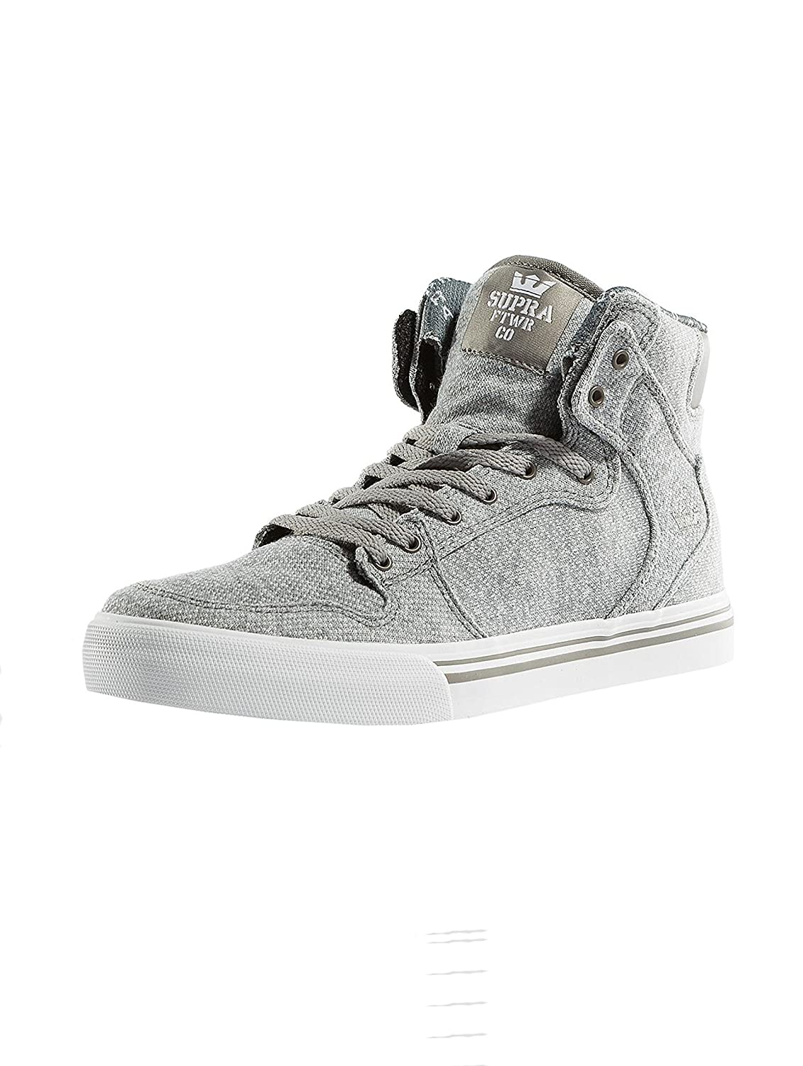 Supra Mens Skytop III Shoes 11 Little Kid M|Grey French Terry Textile/White