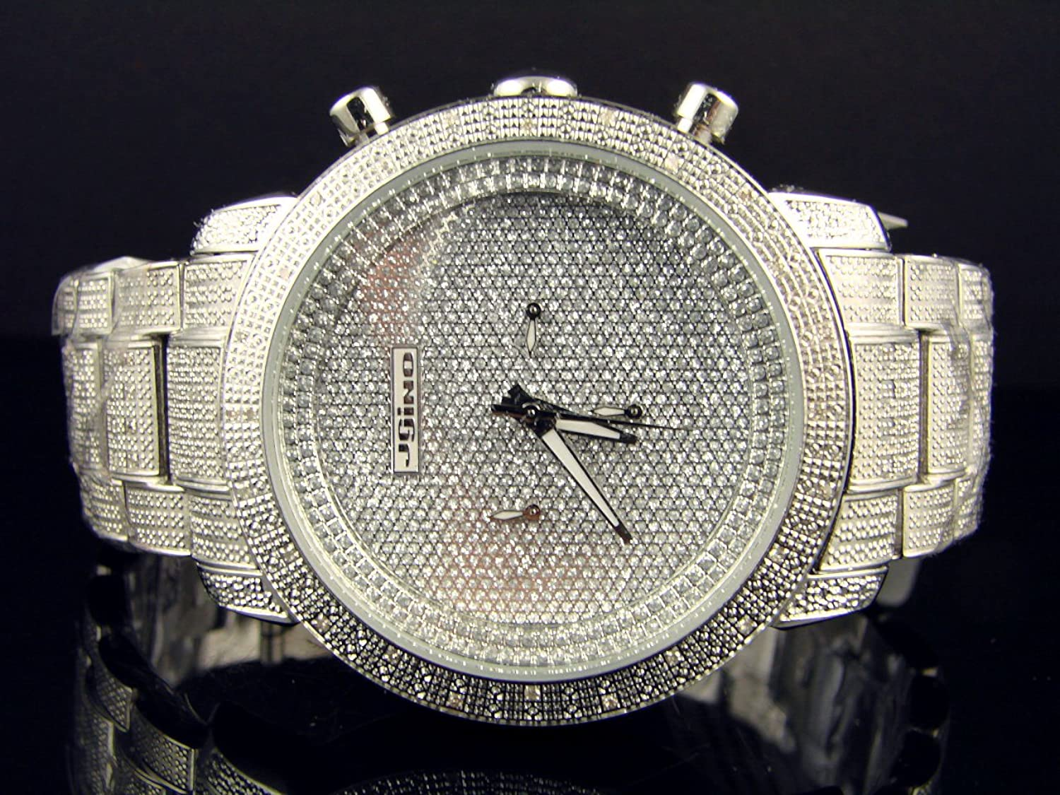 silver iced ct magnum master watches s aqua out diamond watch mens men