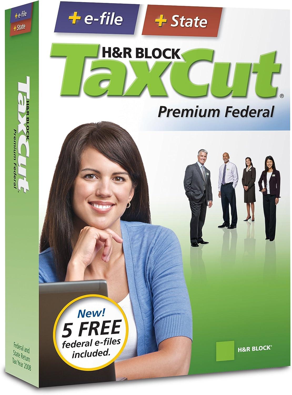 B001HOD50K H&R Block TaxCut 2008 Premium Federal + State + e-file 81DKNC8UnTL