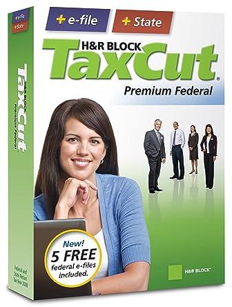 Amazon Com H R Block Taxcut 2008 Premium Federal State E File