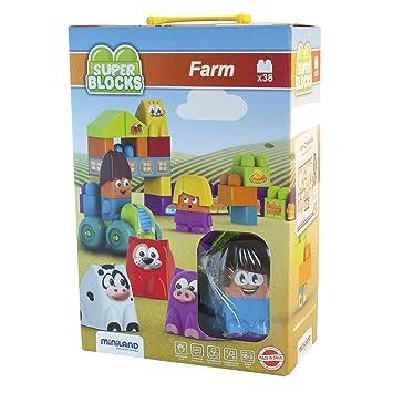 Juego Blocks Super Construcción32339 Miniland Farm De 6gYy7fb