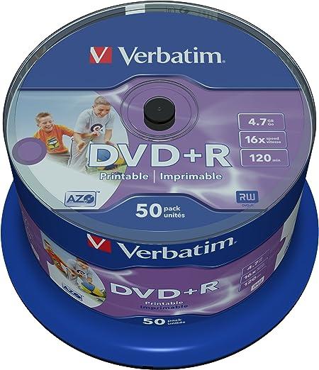 Verbatim Dvd R Wide Inkjet Printable 4 7gb I 50er Pack Computer Zubehör