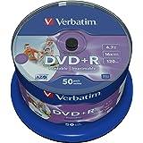 Verbatim DVD+R printable 16X Wide 4.7GB Inkjet printable, Non ID Brand, 43512 (Inkjet printable, Non ID Brand 50PK SPINDLE)