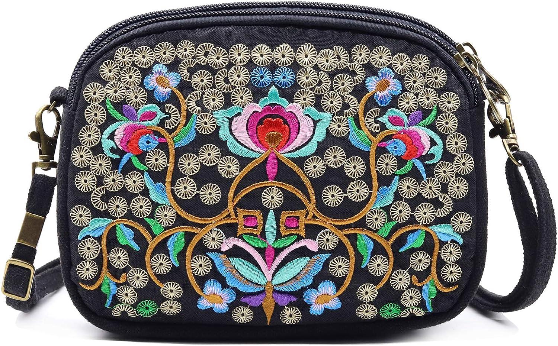 crossbody mini bag small hand bag for women emerald color velvet vintage style ribbon embroidery purse california poppy
