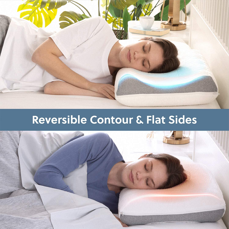 Luxury Soft Contour Healthy Pillow Memory Foam Pad Mat Bed Anti Snoring Stress