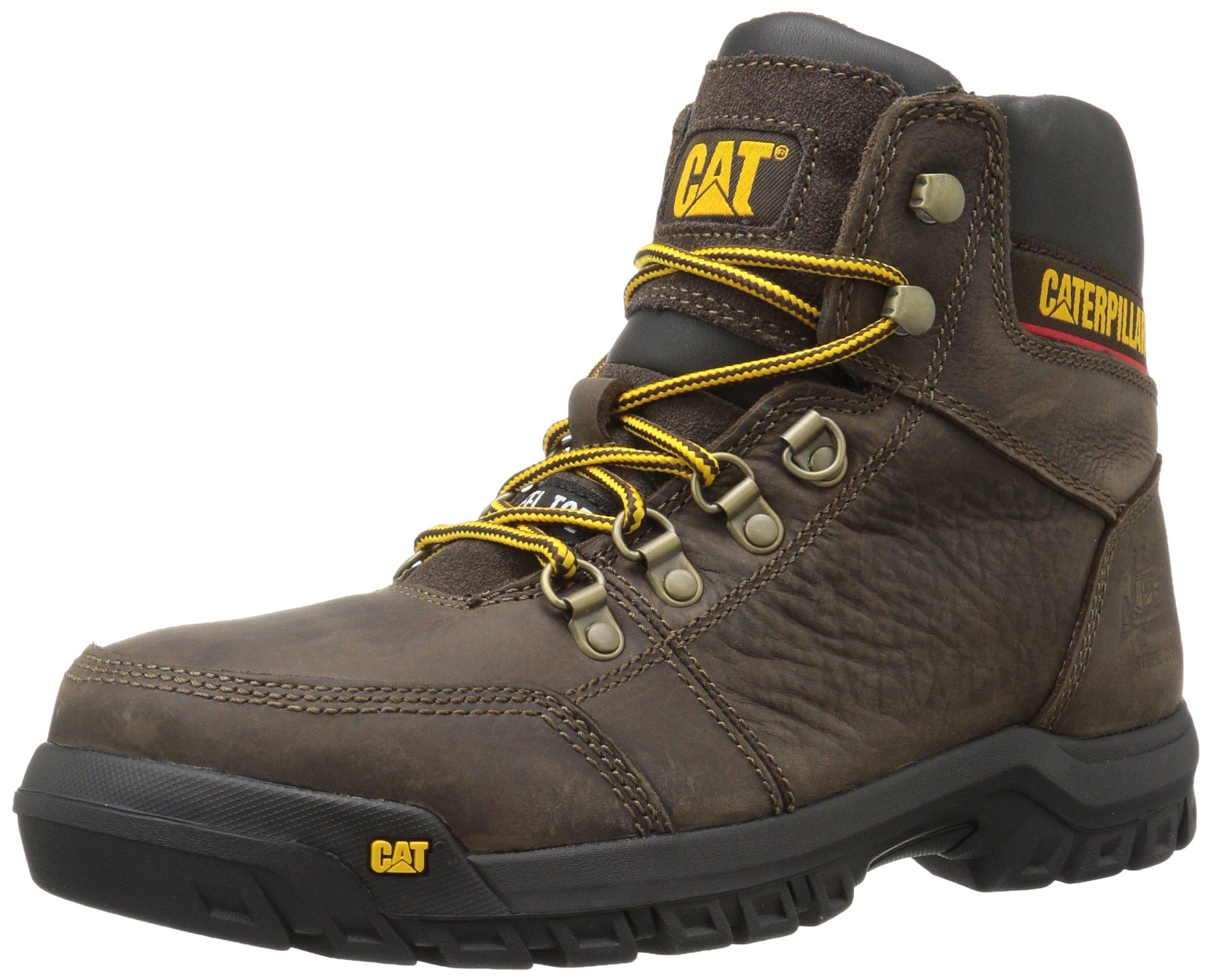 Caterpillar Men's Outline Steel Toe Work Boot, Seal Brown, 10.5 M US