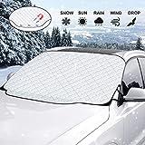 Adoric vindrutetäcke bilruta skydd framruta skydd bil vindruteskydd för vinter snöskydd skyddsfolie och vindrutetorkare…