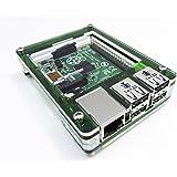 Zebra Case - Raspberry Pi 3, Pi 2, Pi B+ and 2B (Evergreen) with Heatsinks ~ C4Labs