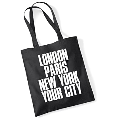 Tote Bags For Women Personalised London Paris New York Printed Cotton  Shopper Bag Gifts  Amazon.co.uk  Shoes   Bags 2c83b955f1