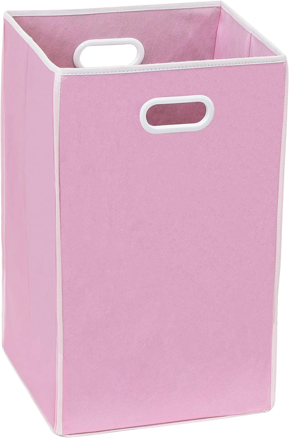 Simple Houseware Foldable Closet Laundry Hamper Basket, Pink