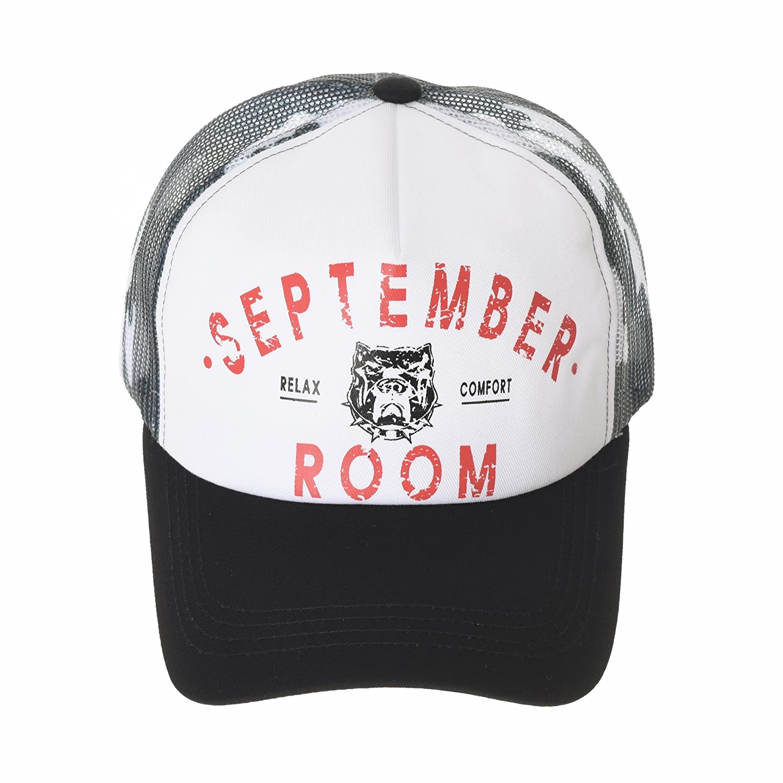 WITHMOONS Meshed Baseball Cap Vintage Trucker Hat Bulldog Print NCM1021