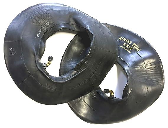 silla de ruedas neumáticos 2 unidades 4.00 - 5, Color Negro, + 2 unidades Tubo Válvula de ángulo, bloqueo gruesos Perfil, estable 4 PR neumáticos: ...