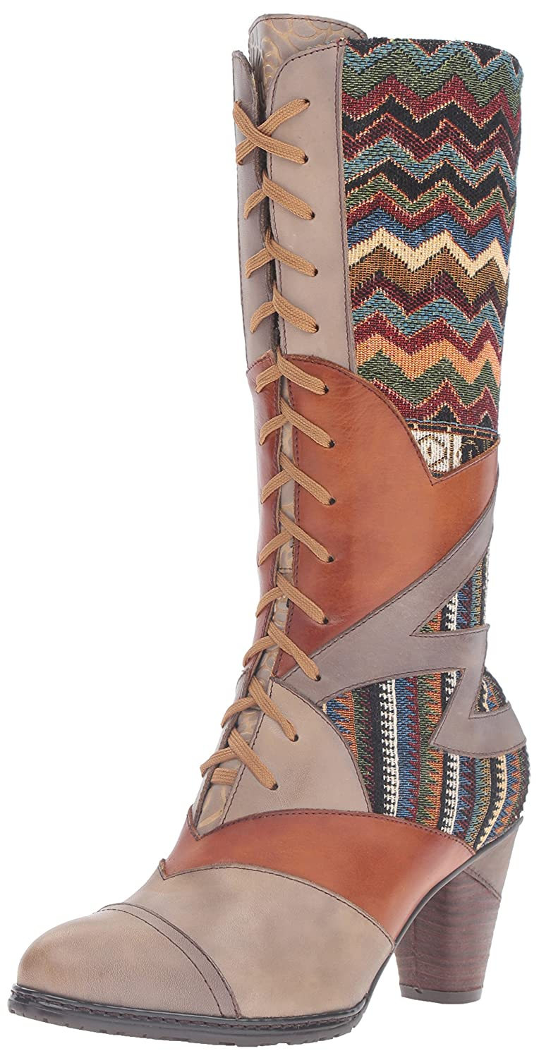 L'Artiste by Spring Step Women's Malag Boot B01EGTQ9MS 38 EU/7.5 - 8 M US|Gray Multi