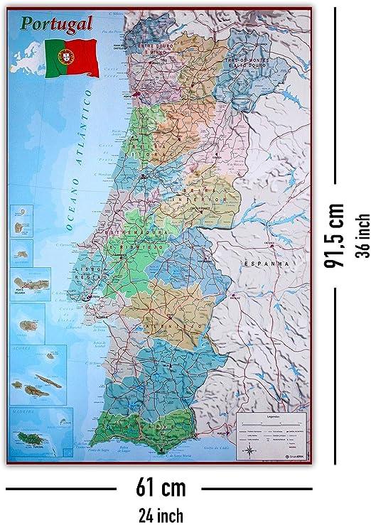 Cartina Geografica Della Spagna Politica.Cartina Portogallo Fisica