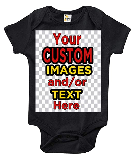 a9d6229f8 Laughing Giraffe Customized One-Piece Baby Bodysuit Romper for Boys and  Girls (0-