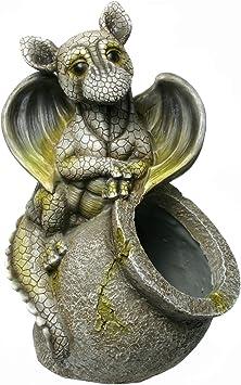 Unbekannt Figura Decorativa para jardín, Forma de dragón bebé con Maceta: Amazon.es: Jardín