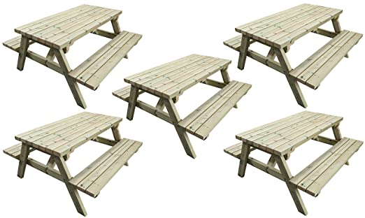 MG Timber Products - Mesa de picnic de madera resistente de 1, 5 m ...