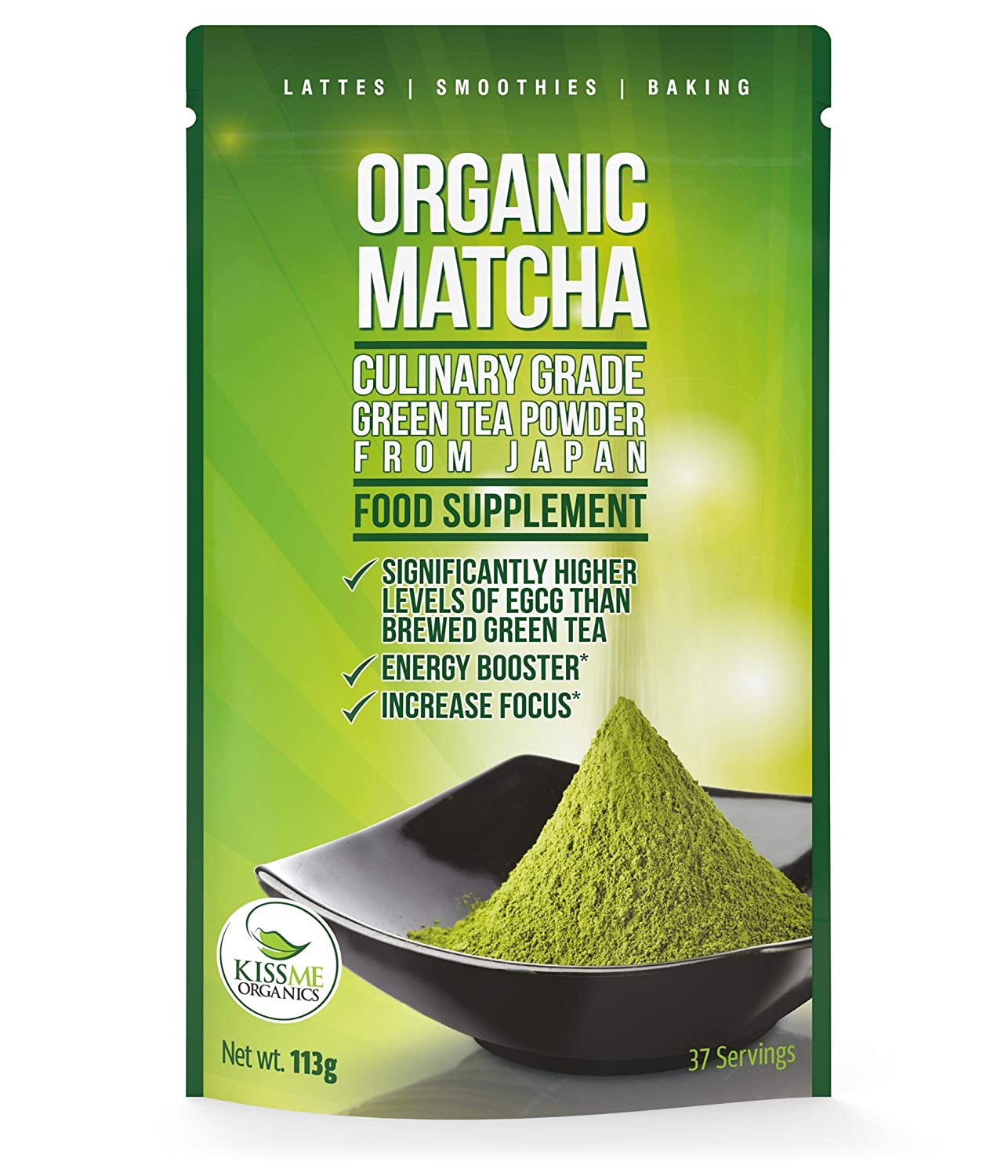 Matcha Green Tea Powder Powerful Antioxidant Japanese Organic Maxi Vanelia Apple 3in1 Culinary Grade 113 Grams Increases Energy And Focus Naturally Supports Weight