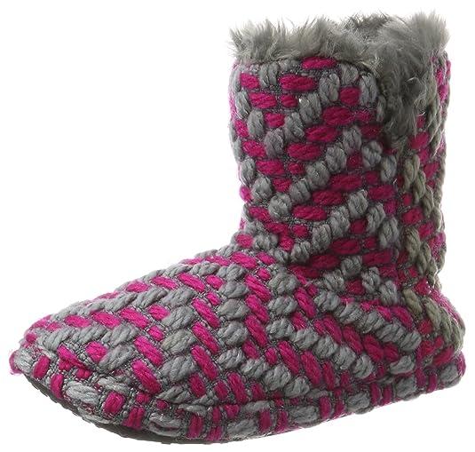 Knitty Bootie, Zapatillas Altas para Mujer, Rosa (Dark Pink), 42 EU Esprit