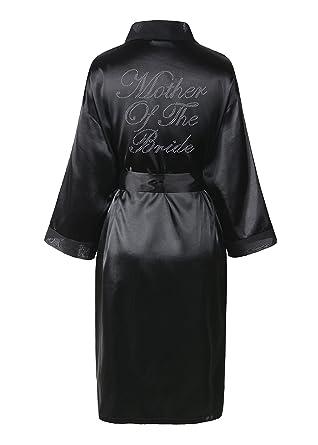 Amazon.com: Varsany Black Women\'s Rhinestone Satin Mother Of The ...