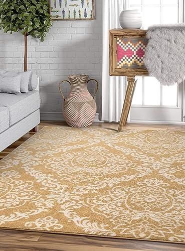 Well Woven Sydney Magnolia Gold Modern Area Rug 7'10'' X 10'6″