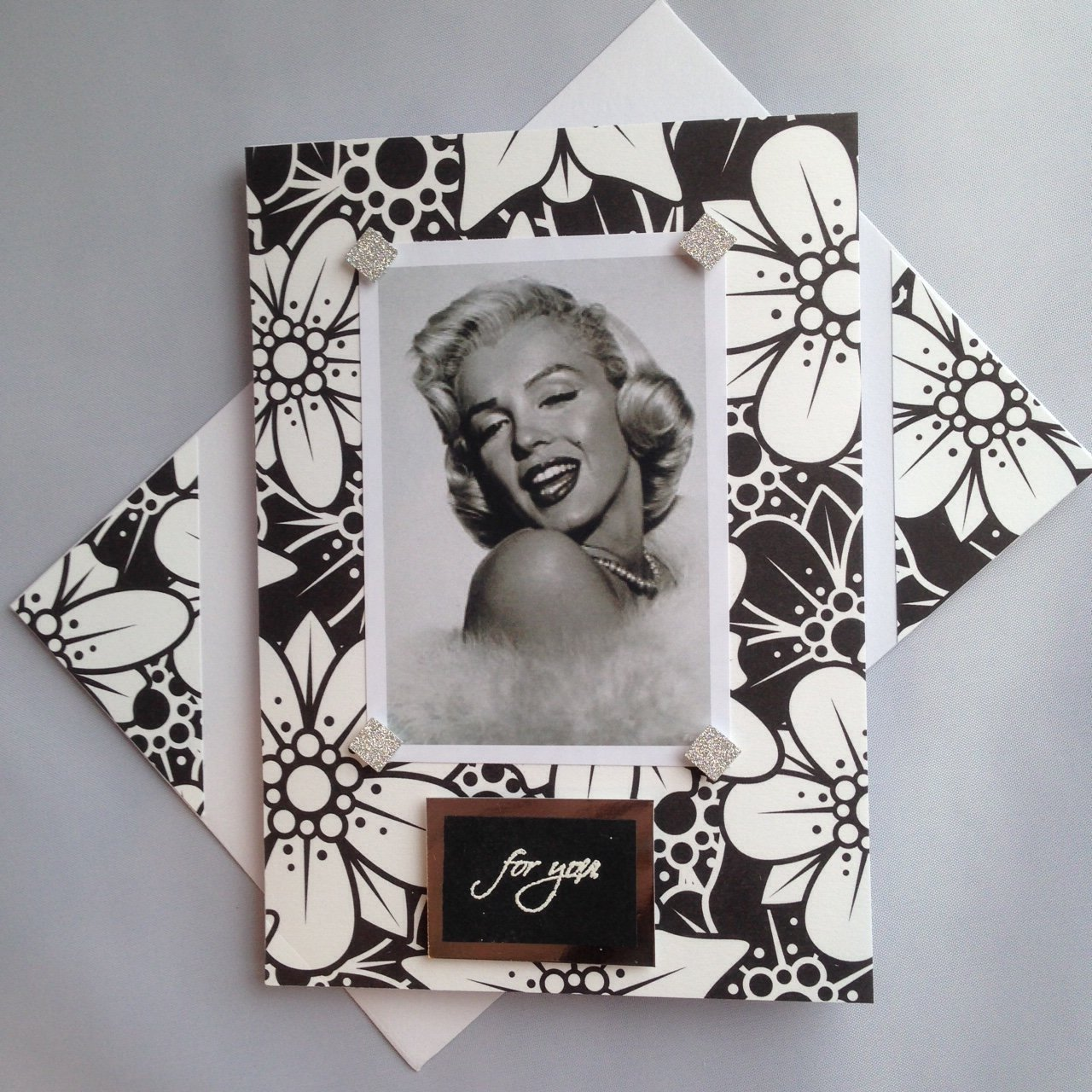MARILYN MONROE Birthday valentines For you greetings card Black white Handmade Celebrations Thanksgiving Singer actress A6//C6 size