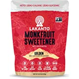 Lakanto Monkfruit Sweetener, 1:1 Sugar Substitute, Keto, Non-GMO (Golden - 8.29 ounces)