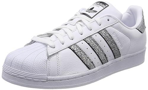 new concept 28516 bb2f3 adidas Superstar W, Scarpe da Fitness Donna, Bianco (Ftwbla Supcol Negbas