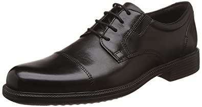 4f24e35cc71aa Bostonian by Clarks Men's Bardwell Limit Black Leather Formal Shoes - 10 UK/ India (