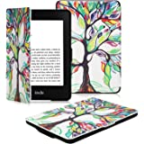 OMOTON Kindle Paperwhite Case Cover - The Thinnest Lightest PU Leather Smart Cover Kindle Paperwhite fit for All Version up to 2017 (Will not fit All Paperwhite 10th Generation 2018), Love Tree