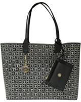Tommy Hilfiger Reversible Tote with Removable Wristlet Pouch Beach Tote