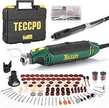 Mini Amoladora Eléctrica, TECCPO Herramienta Rotativa Tool 135W ...
