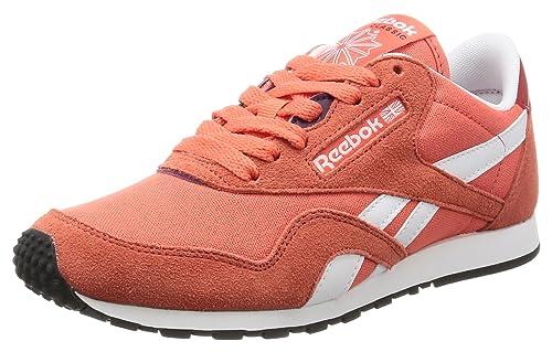 a05b16f9442 Reebok Women s Cl Nylon Slim Hv Sneakers  Amazon.co.uk  Shoes   Bags