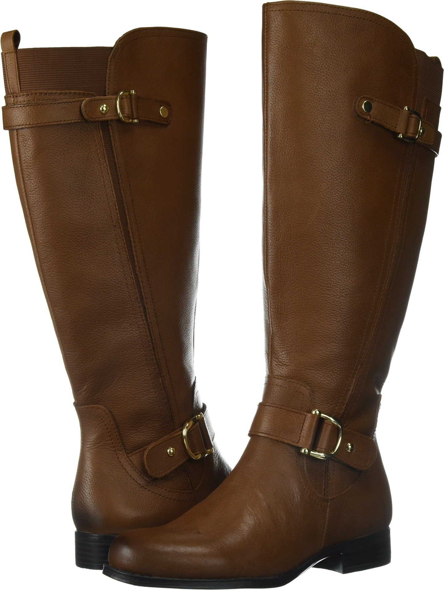 Naturalizer Women's Jenelle Wide Calf Riding Boot, Banana Bread, 8 2W US