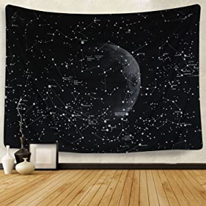 Martine Mall Moon Constellations Tapestry Wall Tapestry Bohemian Wall Hanging Tapestries Wall Blanket Wall Art Wall Decor Beach Tapestry Sunset Tapestry (82.7