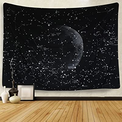 Martine Mall Moon Constellations Tapestry Wall Tapestry Bohemian Wall Hanging Tapestries Wall Blanket Wall Art Wall Decor Beach Tapestry Sunset Tapestry