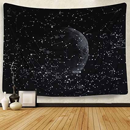 Amazoncom Moon Constellations Tapestry Wall Tapestry Bohemian Wall