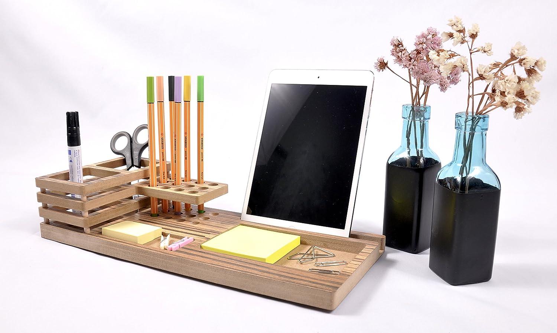 M5C M5C M5C presenta este organizador personal para su mesa escritorio. Madera dm laminado Cebrano 36cm x 15cm x 7cm. Siempre tendrá de forma elegante y organizado todos sus útiles de trabajo. a1d833