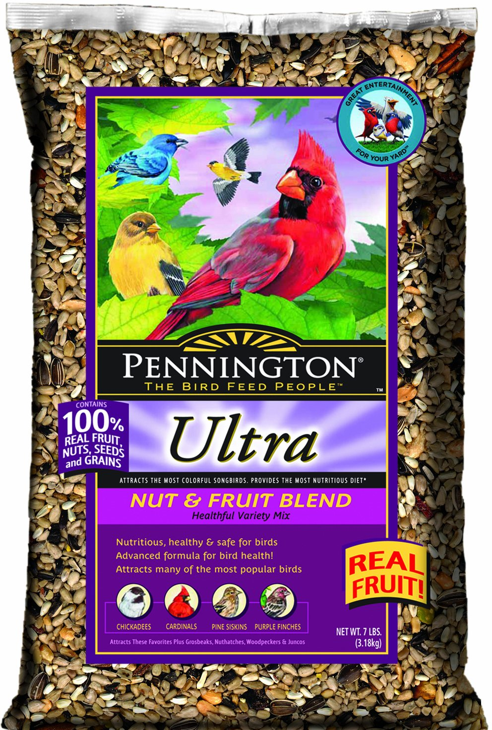 Pennington Ultra Nut And Fruit Blend Bird Seed 7-Pound 2