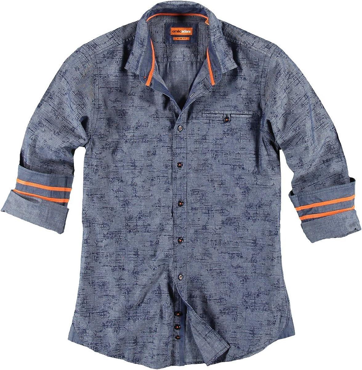 emilio adani - Camisa casual - Ajustado - Clásico - para hombre