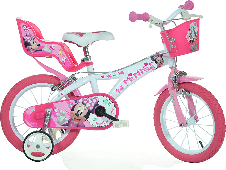 Kinderfahrrad Disney Minnie Mouse 14 Zoll Kinder Fahrrad Minnie Maus Rücktritt
