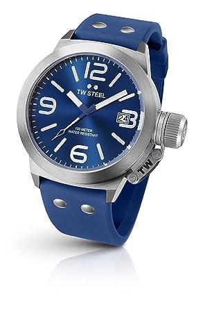 TW Steel Reloj Analógico para Unisex de Cuarzo con Correa en Silicona TW500: Amazon.es: Relojes