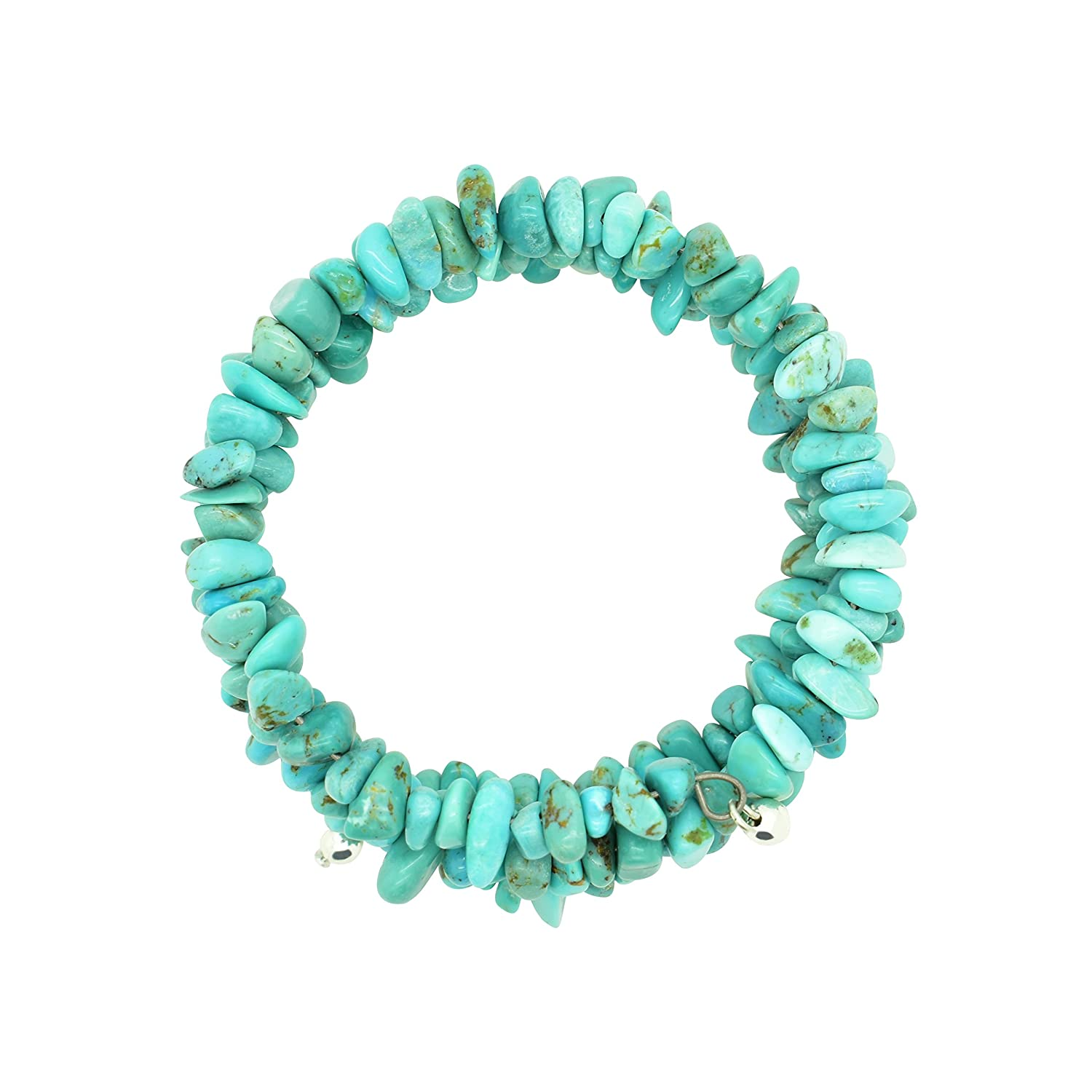 Amazon.com: Bluejoy Jewelry Genuine Natural Turquoise Memory-Wire ...