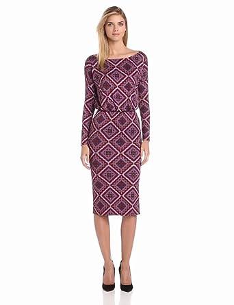 Rachel Pally Women's Brett Dress, Pinot Deco Squares, X-Small