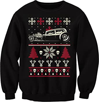 Amazon.com: GearHead Hot Rod Christmas - CAR - Sweater Style SWEAT ...